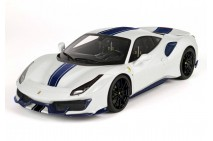 1/18th BBR Ferrari 488 Pista Metal White Italia With Black Wheel
