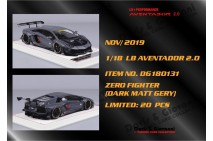 1/18th Davis Giovanni LB Aventador 2.0 Zero Fighter Matt Dark Grey