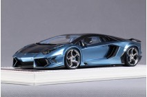 1/18th Davis Giovanni Mansory Aventador Matt Light Chrome Blue