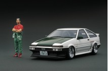 1/18th Ignition Model Toyota Sprinter Trueno (AE86) 3Dr TK-Street Version White with Figure