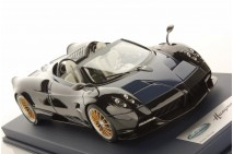 1/18th Looksmart Pagani Huayra Roadster Shiny Black/ Blu Tricolore Matt