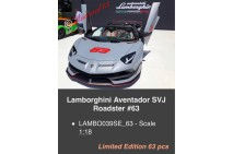 1/18th MR Lamborghini Aventador SVJ Roadster #63