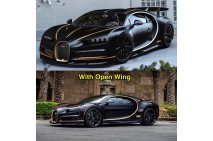 1/18 MR Bugatti Chiron Black Carbon/Black With Shiny Gold Stripe